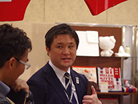 Well experienced Mr. Miyaguchi Manager. He welcomed customers not only at Tokyo but also at Osaka.