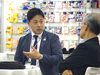 The Sales Managing Director Mr. Suzuki talking seriously in business meeting.