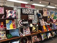 Booth of very popular MARVEL products.