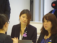 Listening very carefully. Designer Ms. Takayanagi manager and Ms. Watanabe chief.